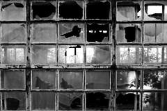 Broken Window´s (ReppiX) Tags: broken window toxic lost place blackwhite factori old factory fabrik rotten canon 200d blackandwhite bw architektur monochrome