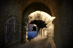 Passages (evakatharina12) Tags: passage alleyway door archway castle fortress walls architecture shadow light würzburg franconia bavaria germany
