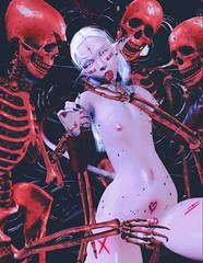 [Immortal slavery] (Diodoros Resident) Tags: bone cureless sl dark femboy maitreya vtech red albinos erotic scars secondlife