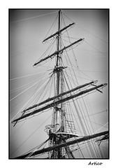 Amerigo Vespucci mast B&W (Artico7) Tags: mast wood main ship old lines ropes sails saliling tall bw blackwhite blackandwhite biacoenero monochrome sky fuji xe1 digital amerigovespucci amerigo vespucci italy italian navy