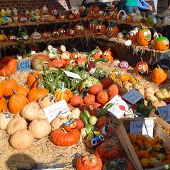 Happy pumpkins (petrOlly) Tags: europe europa germany deutschland erkelenz haushohenbusch bauernmarkt farmersmarket autumn fall nature natura przyroda decoration