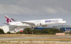 F-WZNK //A7-ANE Qatar Airways Airbus A350-1041 MSN 141 (Flox Papa) Tags: fwznk a7ane qatar airways airbus a3501041 msn 141 35k c46y281 2x rr trent xwb97 painted oneworld special colours