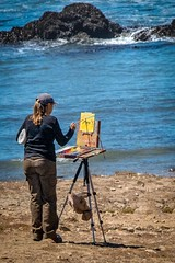 Painters on Pescadero State Beach 4 (CDay DaytimeStudios w/1,000,000 views) Tags: beach beachs ca california coastline highway1 landscape ocean pacificcoast pacificcoasthighway painters pescadero pescaderoca pescaderostatebeach rock rockybeach sanfranciscobayarea water