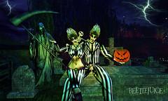 #AdamsPhotoChallenge @ Southern Roots (Kristi__Renae) Tags: beetlejuice halloween haunted haunt graveyard graves grim reaper pumkins headstones lightning scary creepy death dark funny humorous skeleton