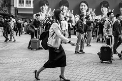 Strictly Business (burnt dirt) Tags: asian japan tokyo shibuya station streetphotography documentary candid portrait fujifilm xt1 bw blackandwhite laugh smile cute sexy latina young girl woman japanese korean thai dress skirt shorts jeans jacket leather pants boots heels stilettos bra stockings tights yogapants leggings couple lovers friends longhair shorthair ponytail cellphone glasses sunglasses blonde brunette redhead tattoo model train bus busstation metro city town downtown sidewalk pretty beautiful selfie fashion pregnant sweater people person costume cosplay boobs