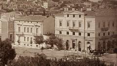Πλατεία Συντάγματος, το ξενοδοχείο  ''D' Attique'' στην Οδό Ερμού. ( Greece, Syntagma Square, Hotel D' Attique). (Giannis Giannakitsas) Tags: αθηνα athens athenes athen greece grece griechenland 19th century 19οσ αιώνασ πλατεια συνταγματοσ syntagma square