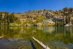 BareIslandLake3Sept1-18 (divindk) Tags: bareislandlake california maderacounty sierranationalforest backpacking camping granite lake quiet reflection serene trees
