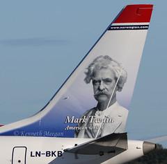 LN-BKB (Ken Meegan) Tags: lnbkb boeing737max8 42833 norwegian dublin 2392018 mark twain american writerlogo jetboeing 737 maxboeing max max8