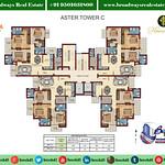 florence-park-aster-tower-C-floor-cluster-plan