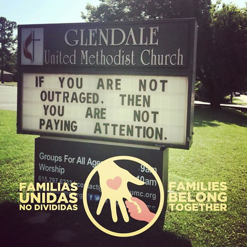 Families Belong Together  | Glendale United Methodist Church - Nashville Sign