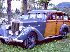 Rolls Royce at Lime Rock - 1967 (gswetsky) Tags: rolls royce shooting brake antique european british