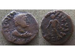 Kujula Kadphises (Baltimore Bob) Tags: ancient money coin bronze copper tetradrachm kushan kushans kujula kadphises herakles kharoshthi