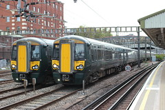 They started to multiply ! (AndrewHA's) Tags: london royaloak station greatwestern railway first great western electrostar class 387 electric multiple unit 387149 387173 suburban passenger trains commuter bombardier derby works built