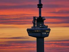 I Spy (louise peters) Tags: sunset zonsondergang sundown schemer twilight zoom euromast restaurant tower toren view uitzicht spy spioneren spion colourful kleurrijk