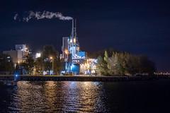 Night Industry (Roderick van der Steen) Tags: sonyalpha sonya7s stars zeissmilvus50mmf14distagon zf2 zeiss milvus1450 novoflex night reflections amsterdam amsterdamatnight architecture industrial landscape