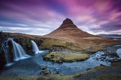 Kirkjufell (Sandro Gambin) Tags: iceland kirkjufell kirkjufellsfoss sunset colour waterfall nature watre longexposure