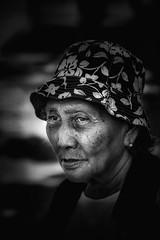 She (tanreineer) Tags: filipina pinoy pinay bnw 85mm18g nikon woman oldwoman lady blackandwhite