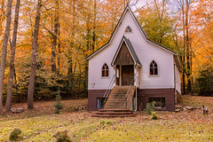 Calvary Bible Church (Back Road Photography (Kevin W. Jerrell)) Tags: churches countryroads countrychurches rural autumn autumncolors abandoned colorful christianity faith wisecounty pound virginia ruralchurches backroadphotography nikond7200 sigmalens