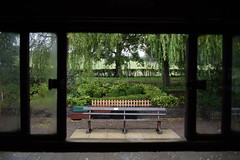 View from the carriage window (davidvines1) Tags: railway rail train carriage station platform seat