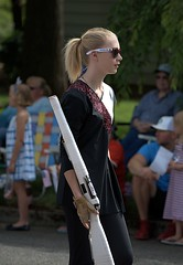 Girls With Guns (Scott 97006) Tags: girl female lady parade march rifle blonde