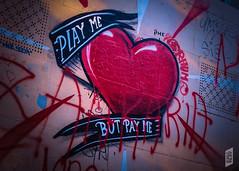 PLAY ME BUT PAY ME (Corbicus Maximus) Tags: graffiti montmatre france paris streetart heart spraypaint nikon d7200 18140mm lightroom street