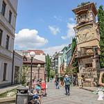La stramba Torre dell'Orologio, Tbilisi, Georgia