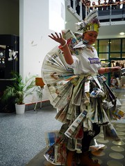 Paper Fashion Parade - 8 (the justified sinner) Tags: justifiedsinner schoolofjewellery panasonic 17 20mm gx7 birmingham westmidlands cityuniversity bcu jewellery jewelry paper fresher event parade