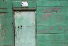 183 Green (peterkelly) Tags: digital canon 6d gadventures transmongolianadventure asia mongolia ulaanbaatar alley green door 183 handle metal