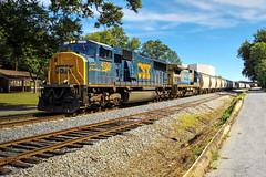 CSX Q580 (Steve Hardin) Tags: locomotive engine emd sd70mac spiritofcumberland c408 standardcab csx wa westernatlantic railroad railway railfan manifest freight train cartersville georgia
