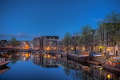 (angheloflores) Tags: amsterdam houses canal night lights architecture city urban explore netherlands