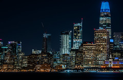 400 folsom construction progress 10.6.18 (pbo31) Tags: sanfrancisco california nikon d810 color city urban october 2018 boury pbo31 fall night black dark treasureisland lightstream motion traffic skyline salesforce tower ferrybuilding 181fremont