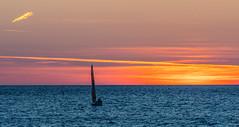 Sunset Sailing (Romeikos Gialos Seafront)  Myrina Town -  Limnos (Lemnos) (North Aegean - Greece) (Olympus OM-D EM1-II & M.Zuiko 40-150mm f2.8 Pro Telephoto Zoom) (1 of 1) (markdbaynham) Tags: greece greek limnos lemnos hellenic olympus em1 myrinatown greeksunset colour hellas grecia greka greekisland em1mk2 em1ii cloud cloudscape seascape mz zd mzuiko zuikolic 40150mm f28 telephoto micro43 m43rd micro43rd m43 mft olympusmft omd evil microfourthirds olympusomd em1mark2