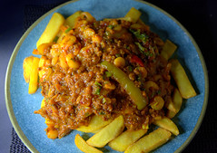 Thawa Curry (mixed peppers, onion, lamb mince keema, prawns & chilli sauce) (Tony Worrall) Tags: add tag ©2018tonyworrall images photos photograff things uk england food foodie grub eat eaten taste tasty cook cooked iatethis foodporn foodpictures picturesoffood dish dishes menu plate plated made ingrediants nice flavour foodophile x yummy make tasted meal nutritional freshtaste foodstuff cuisine nourishment nutriments provisions ration refreshment store sustenance fare foodstuffs meals snacks bites chow cookery diet eatable forsale stock buy image foodphotography buynow sale sell curry keema spice indian prawns
