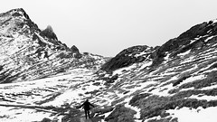 finding middle-earth (m_laRs_k) Tags: unificationholiday october3 vacation blackandwhite bw wandern alpen berg fjäll snow travel 7dwf klosters goschna davos switzerland outdoors noir hiking middleearth midgard