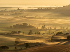 Layers of Sussex (lloydlane) Tags: downs mist south sunrise sussex