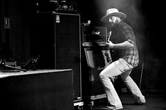RED BEARD  -  southern rock / Espagne (Philippe Haumesser (+ 7000 000 view)) Tags: concert concerts live scène stage musicien musiciens musician musicians groupe groupes band bands rockband rockbands 2018 noiretblanc blackandwhire monochrome sonyilce6000 redbeard