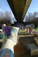 Mountain bike trial course @ Parcours Nature de Fier et Erbe @ Cran-Gevrier @ Annecy
