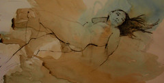 life class model 19 (troycrisswell) Tags: art watercolor drawings nude girl figure troycrisswell