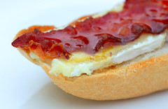 3B's-food: Bread, Brie, Bacon for Brunch (HansHolt) Tags: bread baguette brie bacon honey brunch tabletop macro dof canon 6d 100mm canoneos6d canonef100mmf28macrousm macromondays bfood hmm
