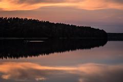 Drewitzer See (Rafael Zenon Wagner) Tags: see silhouette sonnenuntergang dämmerung ruhe licht schatten ruderbot wolken spiegelung ddr nikon d810 200mm lake sunset twilight tranquillity light shadow rowboat clouds reflection gdr