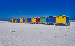 Colors at the Beach (swissukue) Tags: muizenberg southafrica cape sonya7 water beach beachhouses