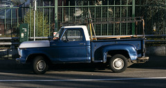 Ford Truck (Curtis Gregory Perry) Tags: portland oregon ford truck pickup blue f100 custom short bed flare fender flareside side panorama nikon d810 105mm
