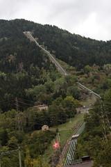 Standseilbahn FPR Piotta - Ritom ( Baujahr 1921 - 87.8% maximale Steigung - Länge 1'369 m - Höhenunterschied 786 m - Ritombahn Funiculaire funivia Cableway ) ob Ambri Piotta in der Leventina im Kanton Tessin - Ticino der Schweiz (chrchr_75) Tags: hurni christoph chrchr chrchr75 chrigu chriguhurni chriguhurnibluemailch september 2018 albumzzz201809september schweiz suisse switzerland svizzera suissa swiss kantontessin kantonticino kanton tessin ticino standseilbahn seilbahn funicular funiculaire vuoristorata funicolare ケーブルカー kabel fløibanen kolejka linowa linbana sveitsi sviss スイス zwitserland sveits szwajcaria suíça suiza
