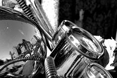 oldstile (StellaMarisHH) Tags: europa deutschland hamburg neustadt motorrad motorroller lampe chrom sw bw spiegelung canon canonpowershot powershots110