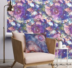 aureole by mimipinto (MimiPintoArt) Tags: wallpaper homedecor cushions indie art artist textile desgin fabric sewing quilting fine watercolor inks