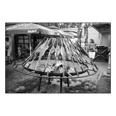 Fish Menu (Koprek) Tags: konicahexaraf film analog croatia ilfordhp5 ilfordfilm varaždin spancirfest summer2018 streetphotography stphotographia