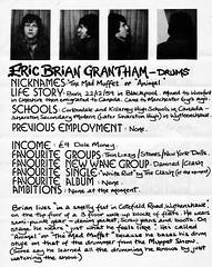Eric Brian Grantham - drums (stillunusual) Tags: manchesterrains robgretton slaughterandthedogs slaughterthedogs fanzine musicfanzine punkfanzine punkzine punk punkrock newwave 1970s 1977