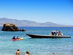 Beach House Resort. Water Sport (dimaruss34) Tags: newyork brooklyn dmitriyfomenko image sky greece antiparos sea water horizon boat kayak people cliff paros beachhouseresort