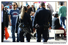 Israeli Police (Kurokami) Tags: jerusalem israel holy land pilgrim pilgrimage footsteps jesus christ christian religious religion spiritual israeli village history church via dolorosa road sorrow sorrows way cross sepulchre empty tomb good friday week resurrection easter police arm armed assault rifle