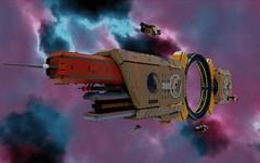 Janus One -- Formerly Modular Tug 26 of the Proxima System (ORION_brick) Tags: lego ship shiptember space hoooo big large huge mega giga september 2018 janus mako ring render star mecabricks starship tug modular asteroid proxima one